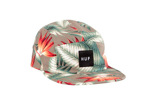 Huf_birds_of_paradise_volley_olive_5_panel_backseries